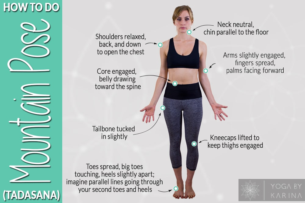 How to Do Mountain Pose in Yoga Instructions