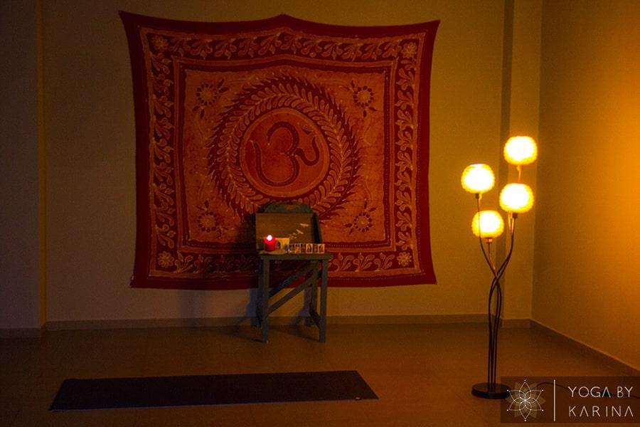 Yoga Studio Practice Area