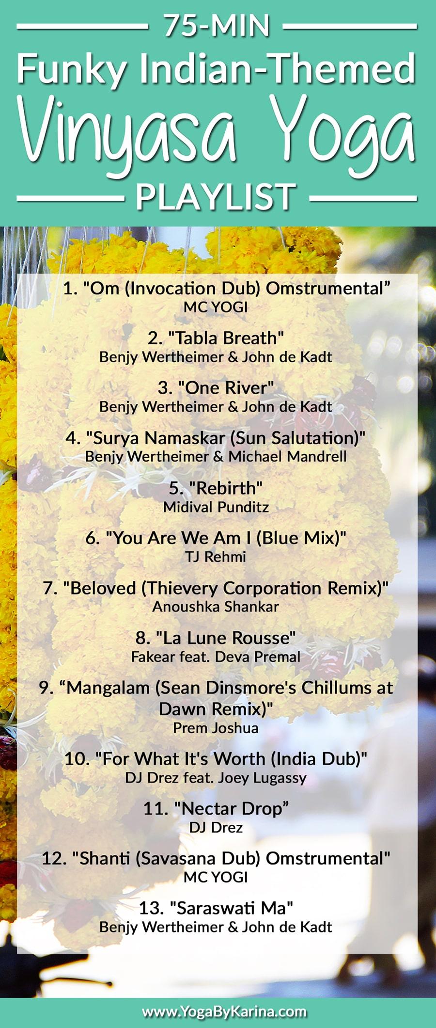 75 Min Vinyasa Flow Yoga Music Playlist